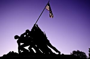 Iwo Jima Memorial at Sunset