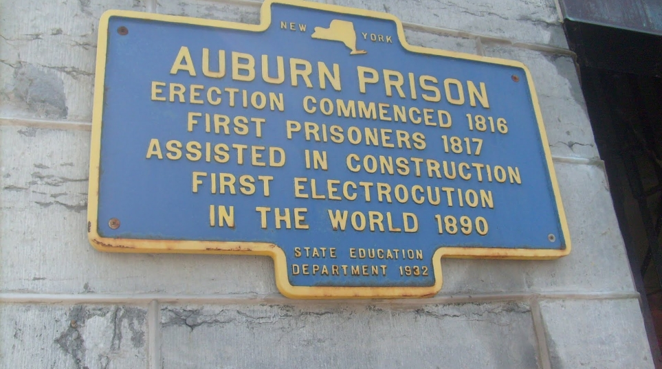 The first man to die by electric chair was convicted murderer William Kemmler at the Auburn Prison in New York, Aug. 6, 1890.