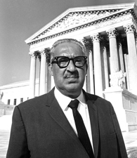 Justice Thurgood Marshall, Sept. 1, 1967.