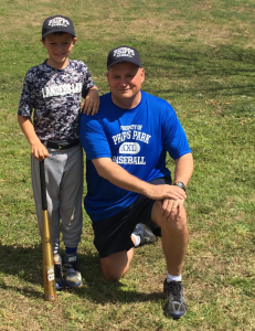 Liam Landers and Coach Kelly