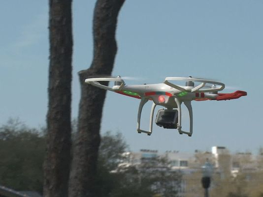 Can drones spy on criminal activity?