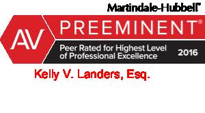 Kelly V. Landers is Rated AV Preeminent