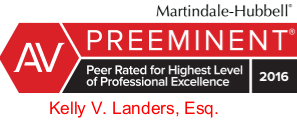 Kelly V. Landers is Rated AV Preeminent