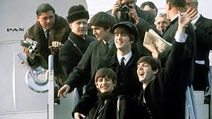 The Beatles arrive in New York, 1964.