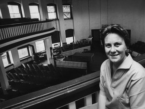 Harper Lee at a local courthouse