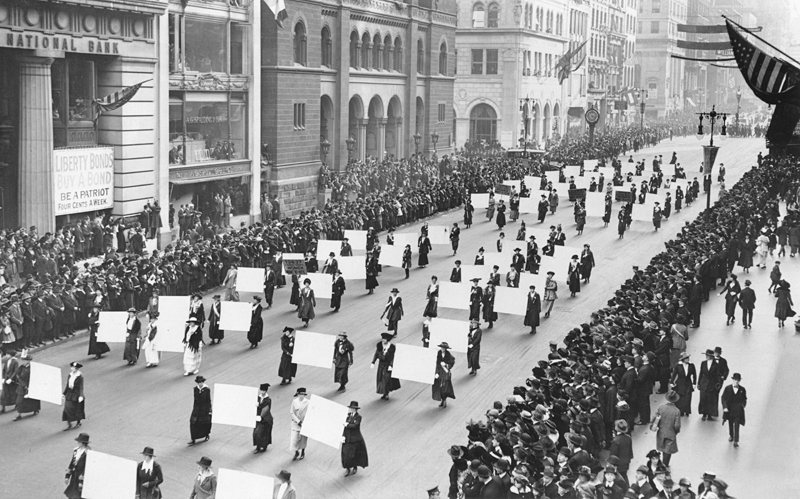 Suffragists in NYC